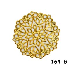 Brass Filigree Findings 164 Gold - 100gram