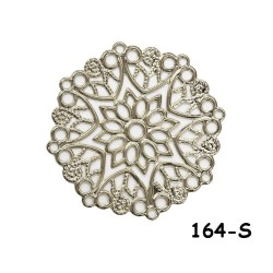 Brass Filigree Findings 164 Silver - 100gram
