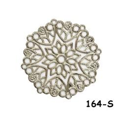 Brass Filigree Findings 164 Silver - 100gram