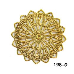 Brass Filigree Findings 198 Gold - 20gram