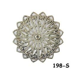 Brass Filigree Findings 198 Silver - 20gram