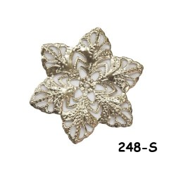 Brass Filigree Findings 248 Silver - 100gram