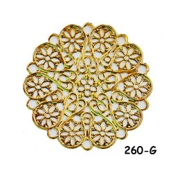 Brass Filigree Findings 260 Gold - 100gram