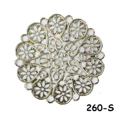 Brass Filigree Findings 260 Silver - 100gram
