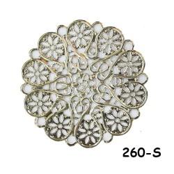 Brass Filigree Findings 260 Silver - 100gram