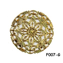 Brass Filigree Findings F007 Gold - 100gram
