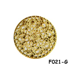 Brass Filigree Findings F021 Gold - 100gram