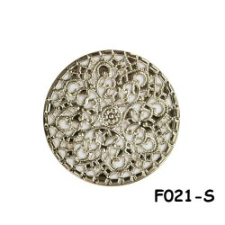 Brass Filigree Findings F021 Silver - 100gram