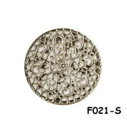 Brass Filigree Findings F021 Silver - 100gram