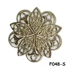 Brass Filigree Findings F048 Silver - 100gram