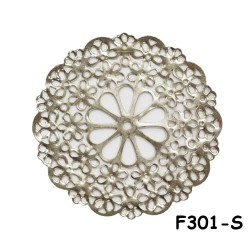 Brass Filigree Findings F301 Silver - 20gram