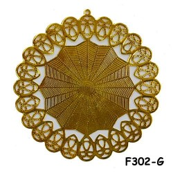 Brass Filigree Findings F302 Gold - 100gram