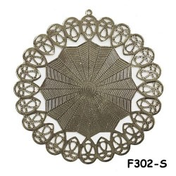 Brass Filigree Findings F302 Silver - 20gram