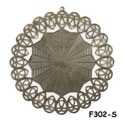 Brass Filigree Findings F302 Silver - 100gram