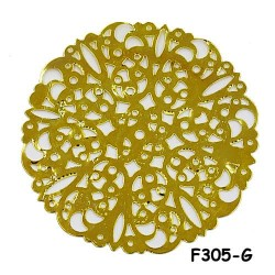 Brass Filigree Findings F305 Gold - 100gram