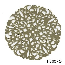Brass Filigree Findings F305 Silver - 100gram