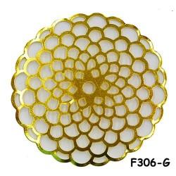 Brass Filigree Findings F306 Gold - 100gram