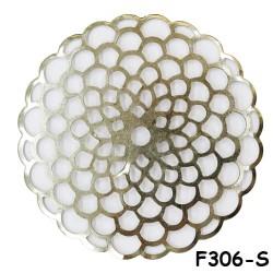 Brass Filigree Findings F306 Silver - 100gram