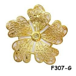 Brass Filigree Findings F307 Gold - 100gram