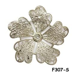 Brass Filigree Findings F307 Silver - 100gram