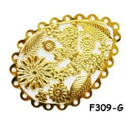 Brass Filigree Findings F309 Gold - 100gram