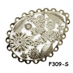 Brass Filigree Findings F309 Silver - 100gram