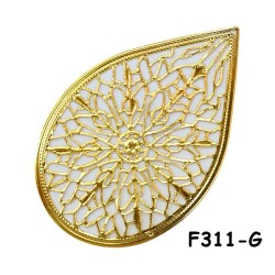 Brass Filigree Findings F311 Gold - 20gram