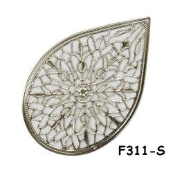 Brass Filigree Findings F311 Silver - 100gram