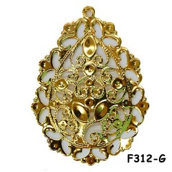 Brass Filigree Findings F312 Gold - 100gram