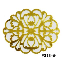 Brass Filigree Findings F313 Gold - 100gram