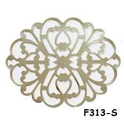 Brass Filigree Findings F313 Silver - 100gram