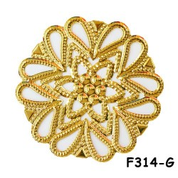 Brass Filigree Findings F314 Gold - 100gram