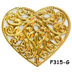 Brass Filigree Findings F315 Gold - 100gram