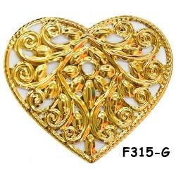 Brass Filigree Findings F315 Gold - 100gram