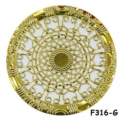 Brass Filigree Findings F316 Gold - 100gram