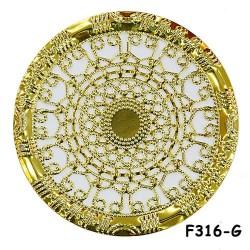 Brass Filigree Findings F316 Gold - 100gram