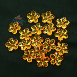 #2653 Acrylic Transparent Flower Bead 2.2cm - Light Orange (20gram/pack)