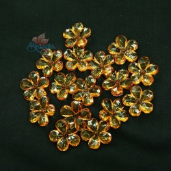 #2653 Acrylic Transparent Flower Bead 2.2cm - Gold Brown (20gram/pack)