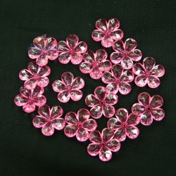 #2653 Acrylic Transparent Flower Bead 2.2cm - Light Pink (20gram/pack)