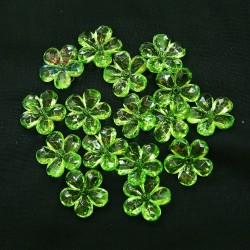 #2653 Acrylic Transparent Flower Bead 2.2cm - Apple Green (20gram/pack)
