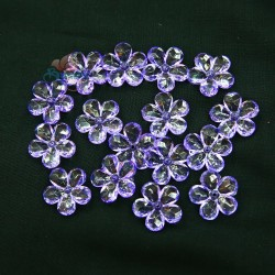 #2653 Acrylic Transparent Flower Bead 2.2cm - Light Purple (20gram/pack)