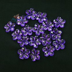 #2653 Acrylic Transparent Flower Bead 2.2cm - Purple (20gram/pack)