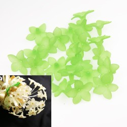 #2752 Acrylic Flower Bead 3cm - Apple Green (20gram/pack)