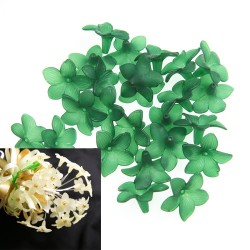 #2752 Acrylic Flower Bead 3cm - Green (20gram/pack)