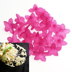 #2752 Acrylic Flower Bead 3cm - Light Magenta (20gram/pack)