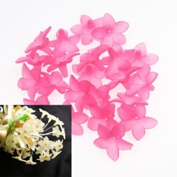 #2752 Acrylic Flower Bead 3cm - Light Pink (20gram/pack)