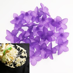 #2752 Acrylic Flower Bead 3cm - Purple (20gram/pack)