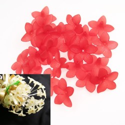 #2752 Acrylic Flower Bead 3cm - Red (20gram/pack)