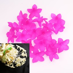 #2752 Acrylic Flower Bead 3cm - Shocking Pink (20gram/pack)