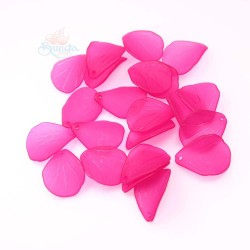 #0857 Acrylic Leaf Bead 2.5cm - Light Magenta (20gram/pack)